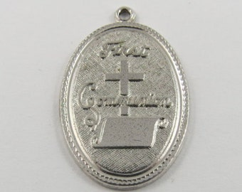 First Communion Silver Charm of Pendant.