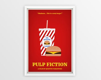 Printable Pulp Fiction Film Poster // Quentin Tarantino // Digital File Download // A2
