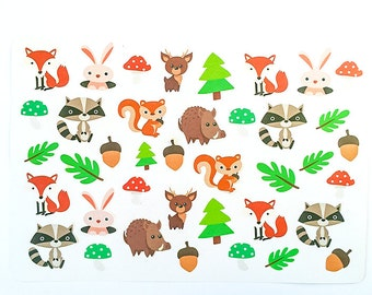 Woodland Planner Stickers, Fox Planner Stickers UK, Weekly Stickers for Erin Condren, Bujo Stickers, Happy Planner Stickers, Animal Stickers