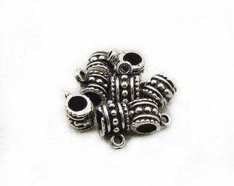 7mm Bails Charm, Round Bails, Bails Pendant, Silver Tone Bails, 8pcs Bails, Jewelry Making, Craft Supplies, Charm Connectors