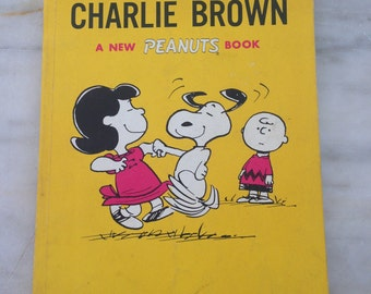vintage Peanuts book Sunday's Fun Day, Charlie Brown, Charles M. Schulz 1967 Fifth printing paperback