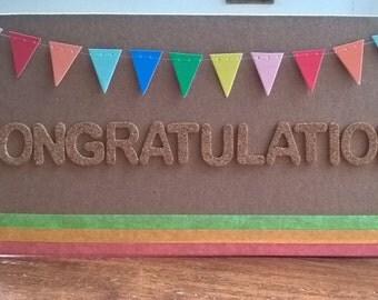 Neon Congratulations card