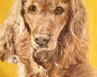 Pet Portrait on canvas Commissioned  SPRING SALE!!