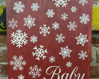 Baby, it's cold outside ~ Holiday Sign