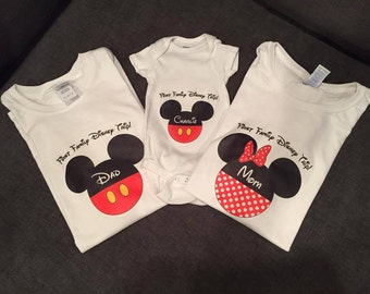 Printable Disney Iron On Transfers for Family Shirts | Digital File | Mickey Mouse and Minnie Mouse