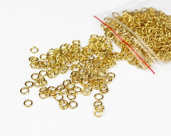 Gold Jump Rings 4mm - 200+ Pieces