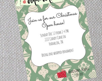 Ornament Swap: Christmas Party Invite Template (Digital)