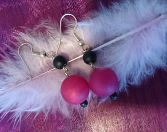 Fuschia fantasy earrings