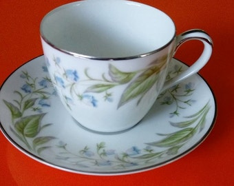 1950's Noritake China Bellaire Demitasse Cup and Saucer