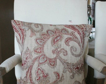 20 x 20 Paisley Pillow Cover