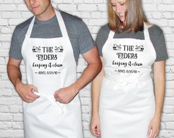 Women's, Men's or Couple's Apron - Keeping it Clean