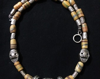 21 in. Trade Bead Necklace.