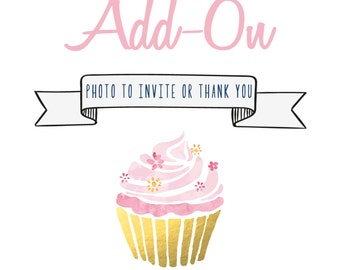 Add a Photo to your Invitation or Thank You Card