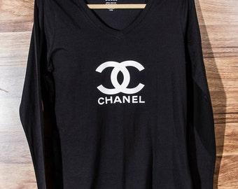 Fashionista Black Women's Long Sleeve Top T-Shirt