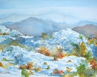 Dalmatia Landscape, Balkan Landscape, Balkan Mountain, Autumn Trees (Print)