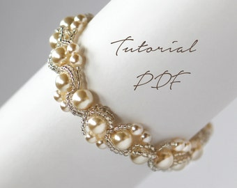 Beading Tutorials/Beading Patterns/Beading Bracelet Pattern/Beaded Bracelet Pattern/Bracelet Pattern/Bracelet Tutorial/Beaded Bracelet/PDF