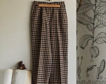 Vintage Wool Plaid Trousers