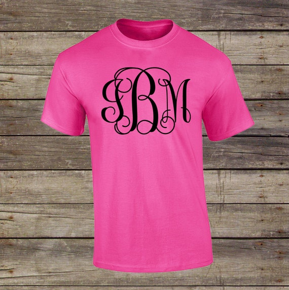 Large Monogram Shirt Womens Monogram Clothing Monogram T