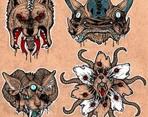 Body Horror Sticker Set 1