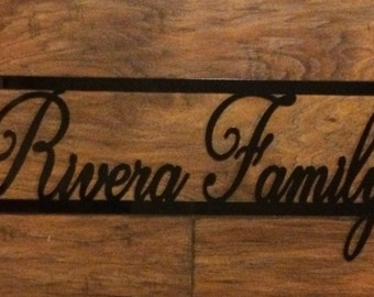 Family Name Sign - Made to Order