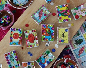 Loteria Match Boxes, Party Favors, Fiesta Decorations