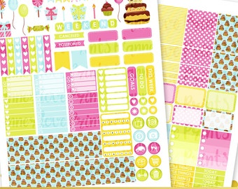 50%off Birthday PRINTABLE Planner Stickers | Instant Download | Pdf and Jpg Format
