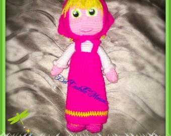 Masha doll crochet amigurumi doll