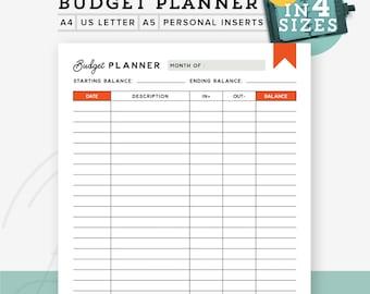 Printable Budget Planner, Printable Finance Tracker, Budget Printable, Personal Planner Inserts, Finance printable planner INSTANT DOWNLOAD