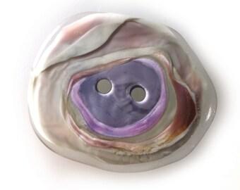 City Pond Glass Button Gray-Violets/Large [2057]
