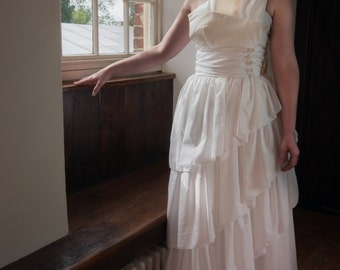 Arabella 1970s Vintage Wedding Dress
