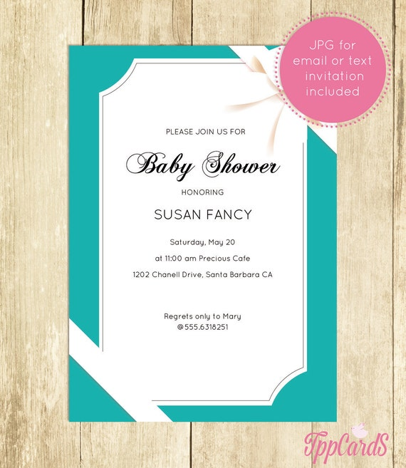 Baby And Co Baby Shower Invitation Teal Royal Quinceanera