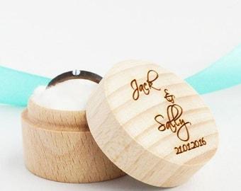 Personalized Wood Custom Ring box -  Personalized Ring Box - Personalized Custom Wedding Ring Box  - Wedding Box - Ring Bearer Box