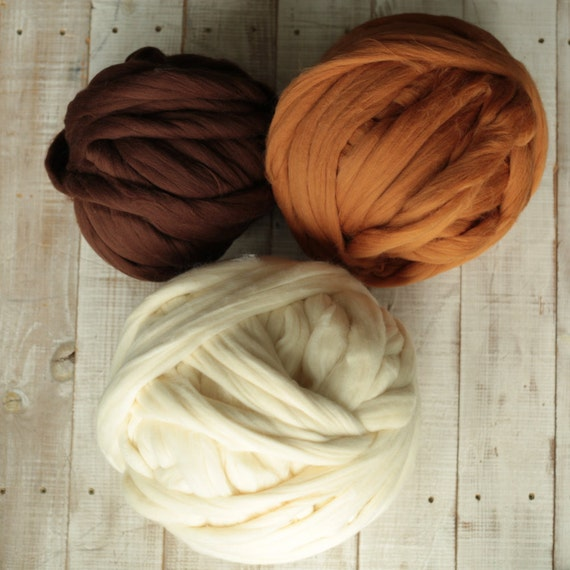 1 kg 2.2 lb Big Extreme Knitting. Giant wool yarn. Super chunky yarn. Big Yarn. Bulky Yarn