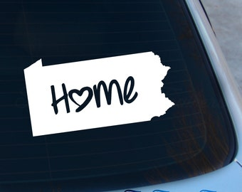 Pennsylvania Decal - State Decal - Home Decal - PA Sticker - Love - Laptop - Macbook - Car Decal