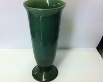 Vintage Haeger Pottery Green Vase, Haeger Vase
