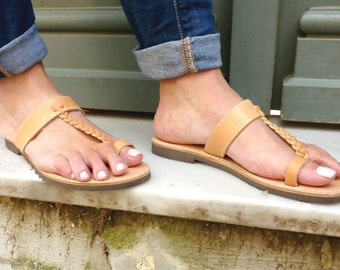 Leather handmade Sandals, womens leather sandals, Toe ring sandal