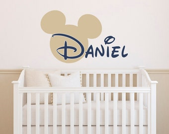 Boy Name Wall Decal  Mickey Mouse Wall Decals  Wall Decals Nursery Boys  Room Decor Part 50