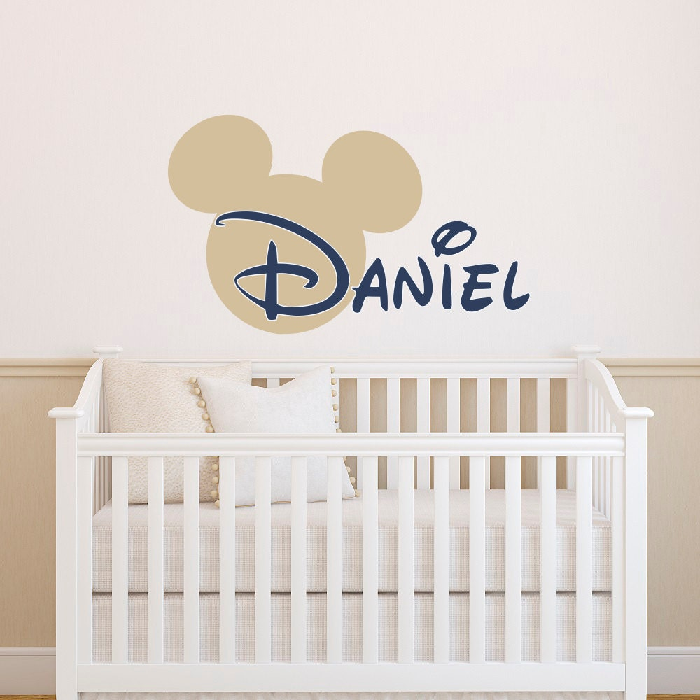 Boy Name Wall Decal Mickey Mouse Wall Decals Wall Decals