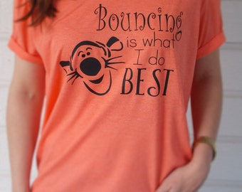 Disney Inspired Unisex Tigger Bouncing Shirt for Adults & Children / Tigger Shirt / Disney Tigger / TTFN / Bouncing Shirt