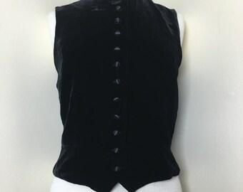 1990s Velvet GAP button up vest