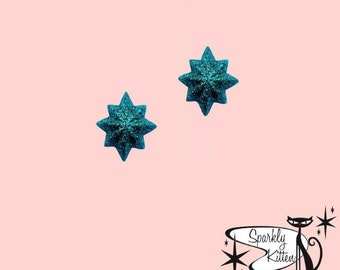 The Starburst earrings in turquoise