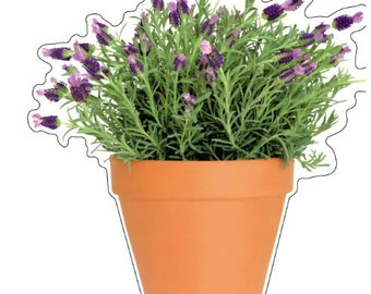 Peel and Stick Flower Pot Window Decal