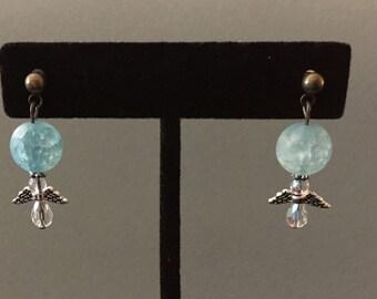 Winter Ice Angel Earrings