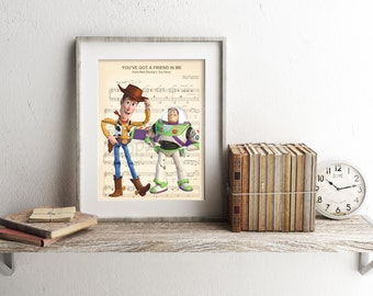Toy Story Sheet Music Art Print