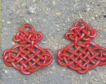 Recycled Telephone Wire Knot Earrings