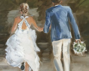 Custom oil paintings on canvas of your life's special moments