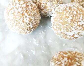 Vanilla Ginger Truffles Organic Vegan Raw Low Carb Low Calorie