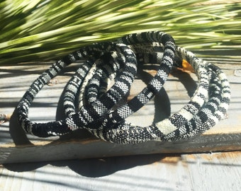 5 ethnic bangles, black and white