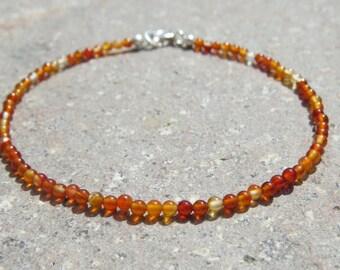 Carnelian Seed Bead Bracelet
