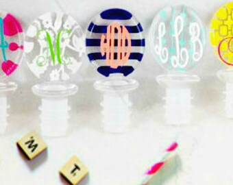 Acrylic wine stopper, Monogram Gift, Acrylic Wine Stopper, Monogram Wine, Wine Stopper, Wine Accessory, Hostess Gift, Christmas gift
